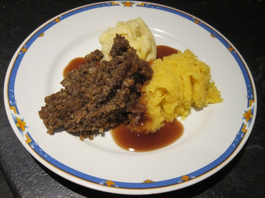 Haggis, Neeps and Tatties with some Whisky sauce.